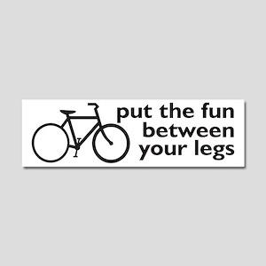 Bike: Fun Between Your Legs Car Magnet 10 x 3