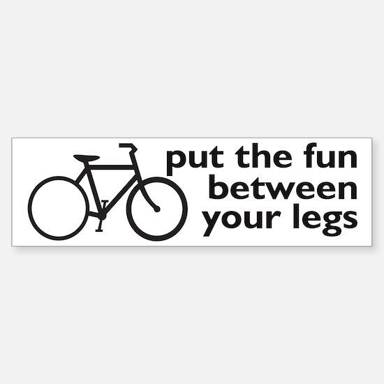 Bike: Fun Between Your Legs Sticker (Bumper)