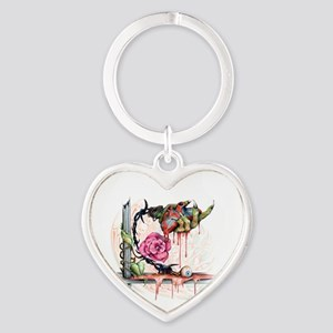Bleeding Heart Heart Keychain
