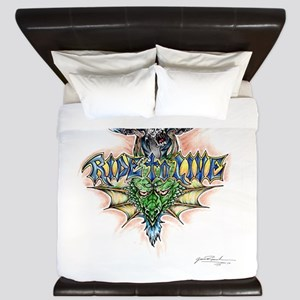 Ride to Live King Duvet