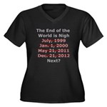 End of the World is Nigh shirt Women's Plus Size V