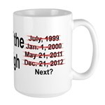 End of the World is Nigh bumper Large Mug