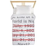 End of the World is Nigh button Twin Duvet