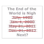 End of the World is Nigh button Small Poster