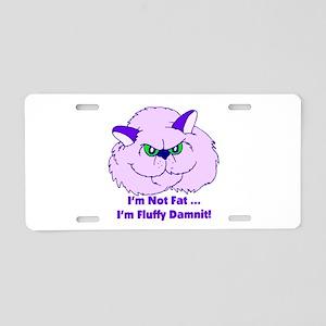 I'm Not Fat Damnit Aluminum License Plate