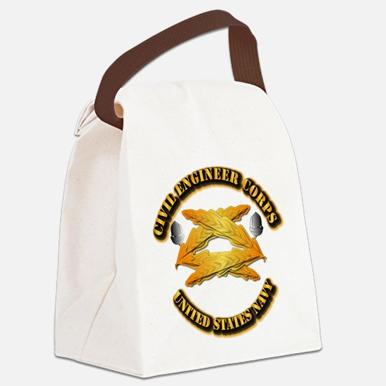 Navy - Civil Engineer Corps Canvas Lunch Bag