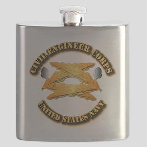 Navy - Civil Engineer Corps Flask