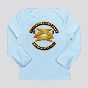 Navy - Civil Engineer Corps Long Sleeve Infant T-S