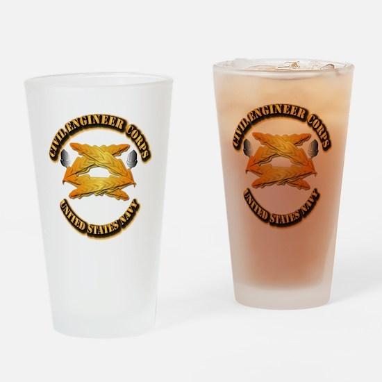 Navy - Civil Engineer Corps Drinking Glass