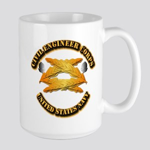 Navy - Civil Engineer Corps Large Mug