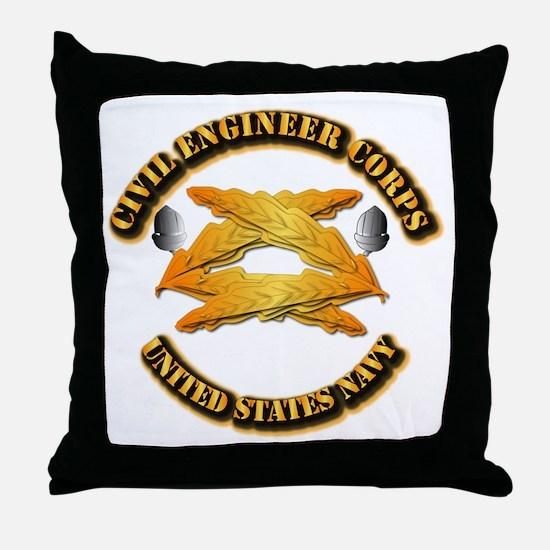 Navy - Civil Engineer Corps Throw Pillow