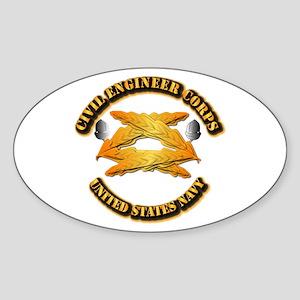 Navy - Civil Engineer Corps Sticker (Oval)