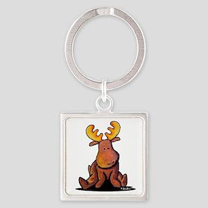 KiniArt Moose Square Keychain