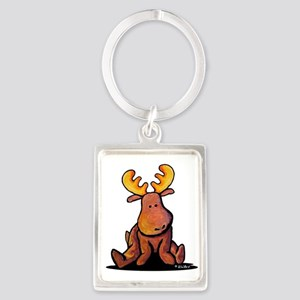 KiniArt Moose Portrait Keychain