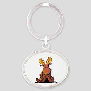 KiniArt Moose Oval Keychain