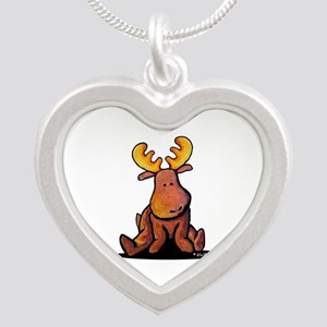 KiniArt Moose Silver Heart Necklace