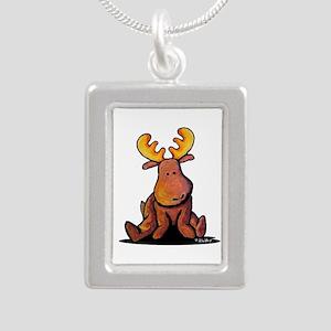 KiniArt Moose Silver Portrait Necklace