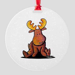 KiniArt Moose Round Ornament