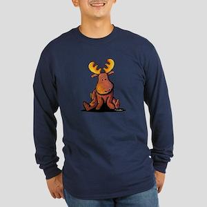 KiniArt Moose Long Sleeve Dark T-Shirt