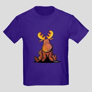 KiniArt Moose Kids Dark T-Shirt