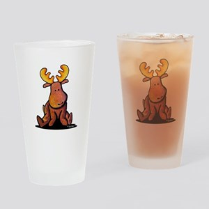 KiniArt Moose Drinking Glass