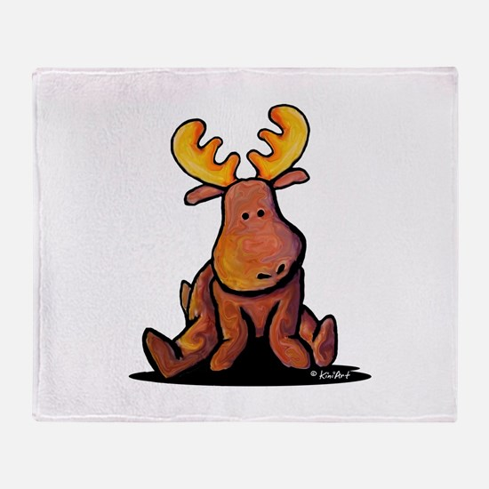 KiniArt Moose Throw Blanket