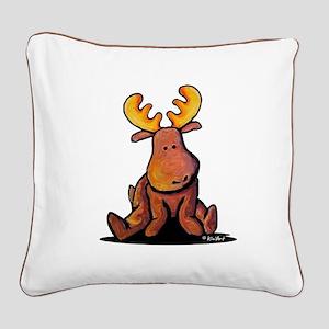 KiniArt Moose Square Canvas Pillow