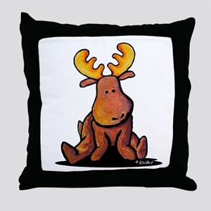 KiniArt Moose Throw Pillow