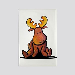 KiniArt Moose Rectangle Magnet