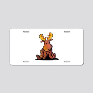 KiniArt Moose Aluminum License Plate