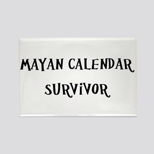 Mayan Calendar Survivor Rectangle Magnet