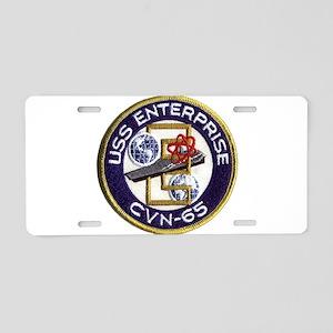 USS Enterprise CVN 65 Aluminum License Plate