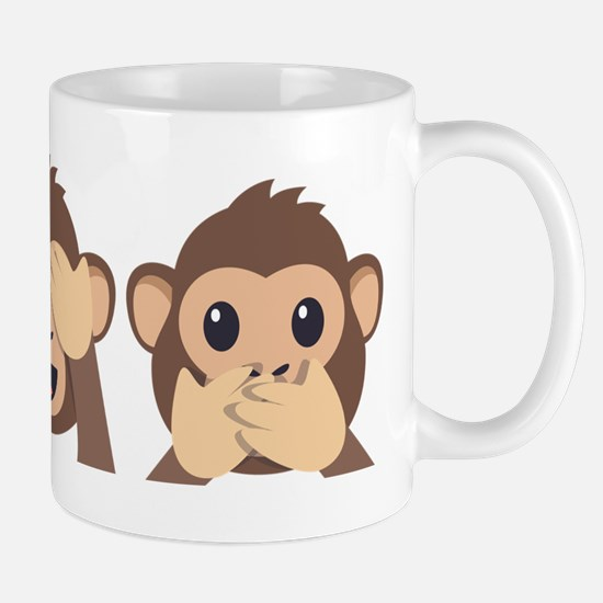 Hear See Speak No Evil Monkey Mug