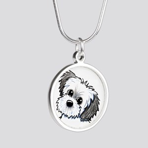 Shih Tzu Sweetie Silver Round Necklace