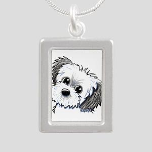 Shih Tzu Sweetie Silver Portrait Necklace