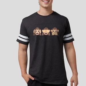 Hear See Speak No Evil Monkey Mens Football Shirt