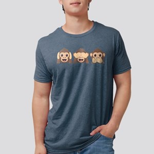 Hear See Speak No Evil Monk Mens Tri-blend T-Shirt