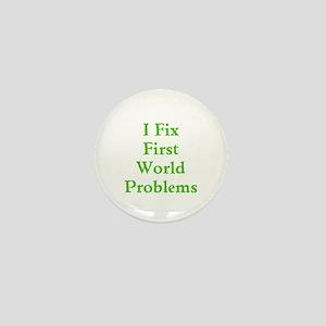 First World Problems Mini Button
