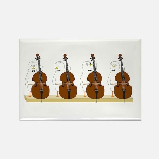 Bass Quartet Rectangle Magnet