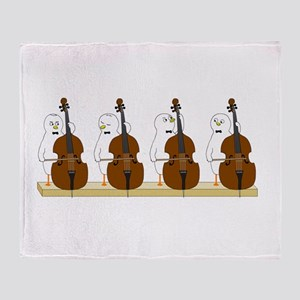 Bass Quartet Throw Blanket