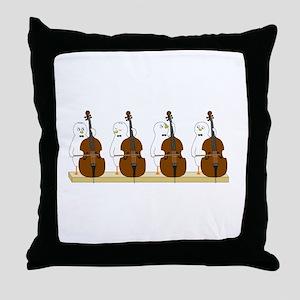 Bass Quartet Throw Pillow