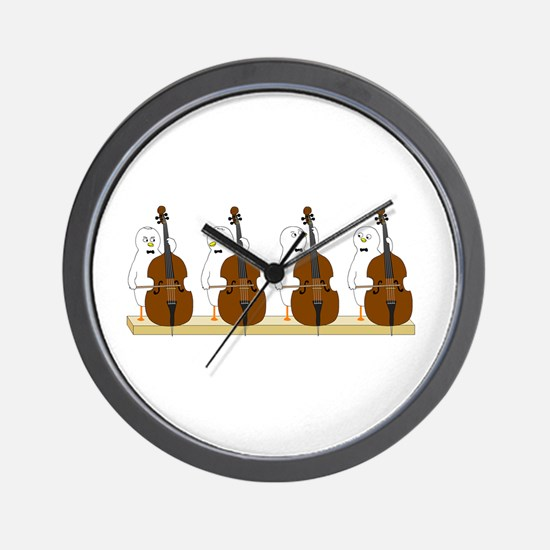 Bass Quartet Wall Clock