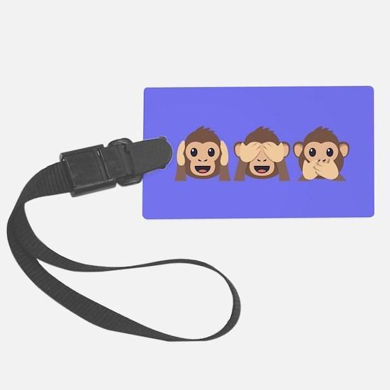 Hear See Speak No Evil Monkey Luggage Tag