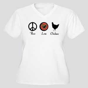 Peace Love And Chickens Plus Size T-Shirt