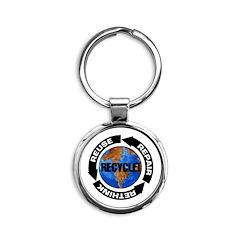 Recycle World Round Keychain