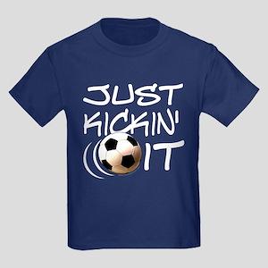 Just Kickin' It - Kids Dark T-Shirt