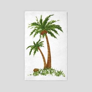 Twin Palm Tree 3'x5' Area Rug