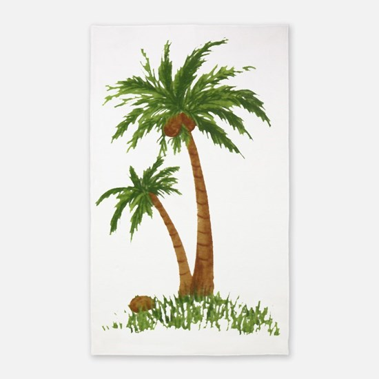 Twin Palm Tree 3'x5' Area Rug
