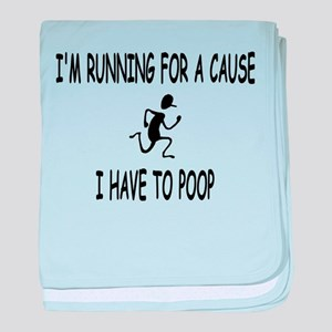 I'm running for a cause, poop! baby blanket
