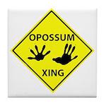 Opossum Crossing Tile Coaster